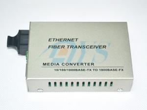 China 10 / 100 / 1000M Singlemode Duplex SC Optical Fiber Media Converter , High-speed on sale