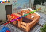 Thrilling Inflatable Mechanical Bull With Mattress / Inflatable Games Redeo Riding Bull Machine