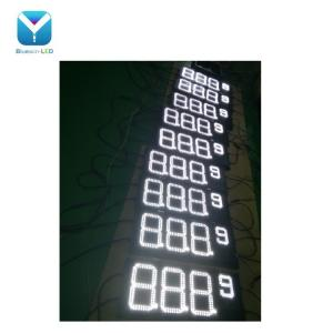 China Gas station design red outdoor 4 digits gas price led signs led numbers display boards on sale