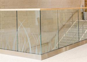 China Fence railing U channel aluminum balcony railing balustrade glass on sale