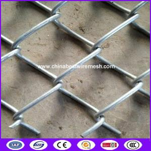 China Zinc aluminum alloy chain link fence with accessories for airport on sale