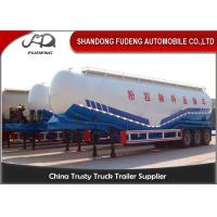 Double Compartments W Shape Bulk Cement Tanker Trailer Steel Q345B Main Beam
