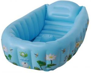China Blue Eco-friendly Inflatable Bathtub For Babies on sale
