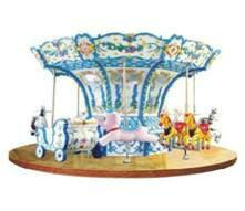 China 12 People Carousel Kiddie Ride , Kiddie Carnival Rides HR-QF032 on sale
