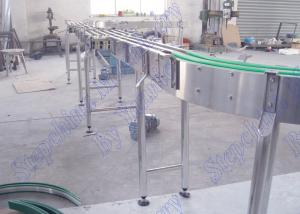 China Modular Stainless Steel Bottle Conveyor System For Bottled Beverage Transportation on sale
