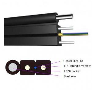 China FRP / Steel Drop Fiber Optic Cable Optical Fiber Unit 1KM 2KM 3KM 5 KM In Roll on sale