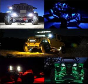 Quality LED RGB Rock Light For Trucks Multi Color Bluetooth Control Under Car LED for sale