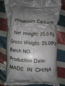 China potassium carbonate 99%min K2CO3 on sale