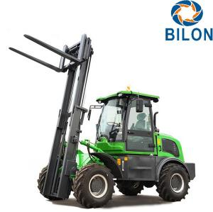 China Off Road Diesel Forklift Truck 3 Ton Rated Loading Capacity With Four Wheel Drive on sale
