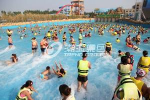 China Family Water Park Wave Pool Equipment , Fiberglass Aqua Park Products Machine on sale