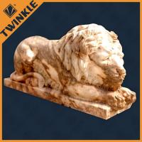 China Custom Hand Carving Animal Natural Marble Lion Stone Sculpture on sale