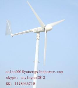 China a turbina eólica 1kw pequena para a casa, jogo do gerador de vento com a torre do fio de indivíduo ou pode ser telhado montado on sale