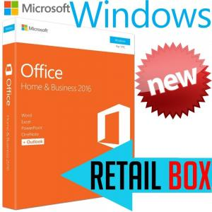 Quality Microsoft Office Home Business 2016 Retail Box , Support 1 User License Key for sale