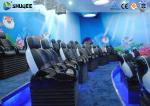 Midsize 4D Cinema System , Black and white Glass Fiber Reinforced Motion Chairs And Black Leather