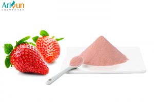 China Pink Color Natural Food Ingredients Spray Dried Strawberry Powder Good Solubility on sale