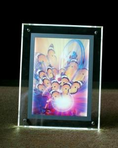 China Backlit LED Crystal Light Box , Replaceable Poster LED Acrylic Light Box High Brightness on sale