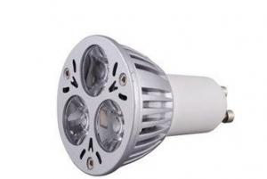 China Energy Saving 85 - 265V / 50HZ / GU10 / 3W LED Spot Light Bulb for Shopping Malls Teashops on sale