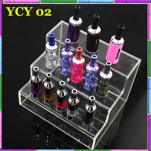 China Various Colors Fashion E Cig Display Shelf With Acrylic E Cig Holders on sale