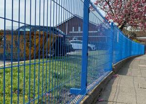 China 4x4 Welded Wire Mesh Fence Panels Powder Coated and Hot Dipped Construction on sale