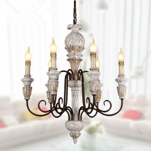 China Iron chrome and wood chandelier for Living room Bedroom (WH-CI-69) on sale