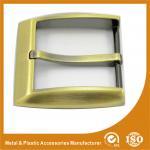 Logo en alliage de zinc simple 35MM GLT-12003 de laser adapté aux besoins du client par Pin en métal de boucles de ceinture