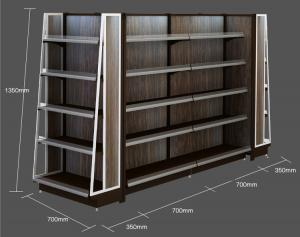 China Cold Rolled Steel Convenience Store Shelving / Adjustable Supermarket Gondola Shelving on sale