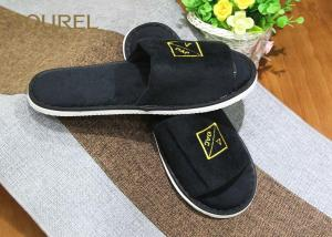 China 5mm Untiskid EVA Sole Disposable Pure Cotton Slippers for Hotel Guest Room on sale