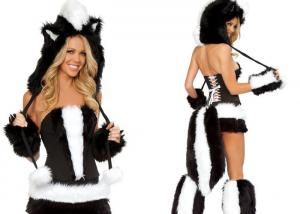 China Faux Fur  Fancy Dress  Animal Mascot Costumes Woman Sexy for Carnival Christmas on sale