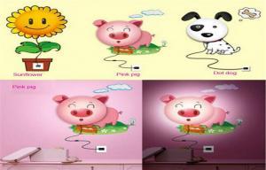 China Kids Wall Paste LED Baby Night Light Sticker Sensor Nursery Night on sale