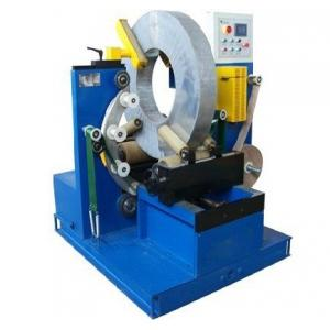 China Electric Wire Baler Cable Wrapping Machine With Two Driving Rollers 220V / 380V Voltage on sale