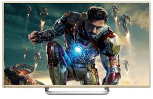 China Gold Case 65Inch Super Thin 3D LCD Panel , Smart 4K Full HD TV Widescreen on sale
