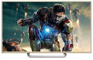 China Panneau mince superbe de l'affichage à cristaux liquides 3D de la caisse 65Inch d'or, plein HD TV écran géant de Smart 4K on sale