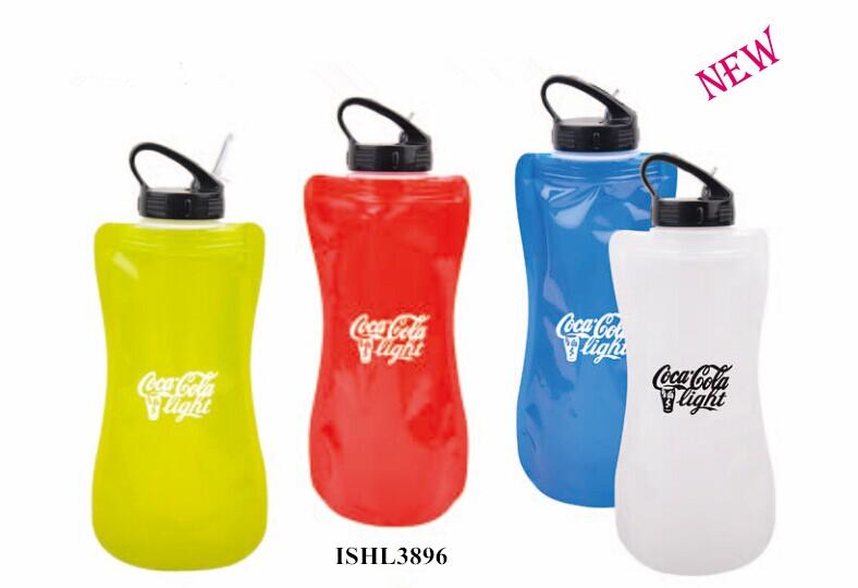 top sales promotional foldable water bottle printed logo inceacing