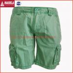 Mens casual cargo shorts with cotton fabric