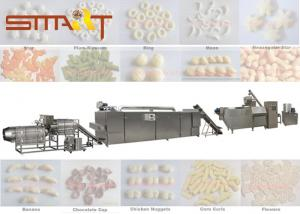 China Siemens PLC Control Snack Food Extruder Machine For Puffs / Pastry / Filled Snacks on sale