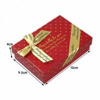 Red square customized jewelry paper boxes jewllery gift packaging