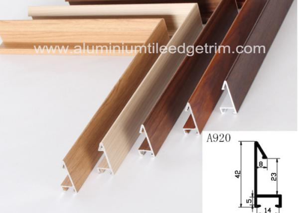 Fashionable Aluminum Sectional Picture Frames Heat Transfer Printing Wood Grain Images