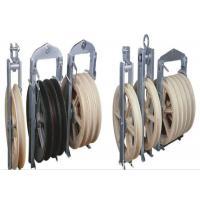 822mm Large Diameter Transmission Line Stringing Tools Block , Aerial Roller With Nylon Wheel