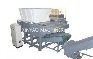 China Nylon Wire Single Shaft Shredder Machine With CNC Processing Rotor / PLC Program Control on sale
