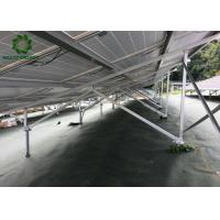 Silver Customized Ground Mount Solar Racking Systems Industrial Ground Mounting Solution