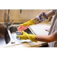 Heave Duty Long Cleaning Latex Gloves , Five - Finger Sponge Scouring Pad