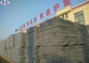 China Galvanized Rock Basket Wire Mesh Maccaferri Gabion Stone Cage Corrosion Resistance on sale