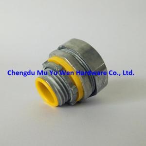 China UL standard liquid tight straight zinc die casting conduit connectors manufactured by Mu Yu Wen Hardware on sale