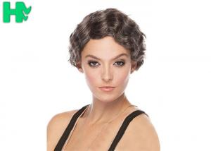 China Deep Wave Synthetic Short Wigs Human Hair , Feather Charm Wig on sale