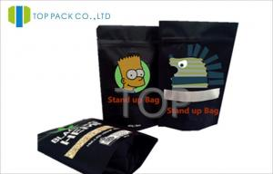 China Black Commercial Food Packaging Bags , AL Baby Food Packaging For Chia Seeds on sale
