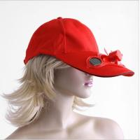 China 2014 Solar cooling fan caps and hats, Solar cap with fan solar energy on sale