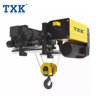 Heavy Duty TXK Electric Chain Hoist Remote Control , European Wire Rope Hoist With Imported Components