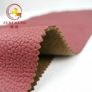 China Bronzing Suede Woven Soft Leather Look Colourful In-stock fabric for upholstery and Sofa on sale