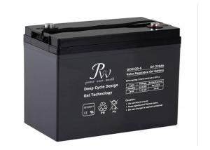 China 220Ah 6v VRLA Deep Cycle Gel battery with Good Over - discharging Recovery Ability on sale