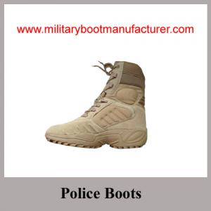 China Wholesale China made Full Grain Suede Tan Color Military Tactical Desert Boots on sale